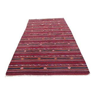 Anatolian Handwoven Wool Kilim Rug - 5′11″ × 14′4″