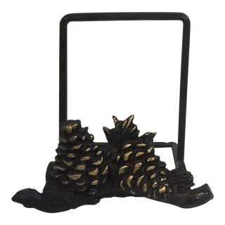 Pine Cone Embellished Book Easel