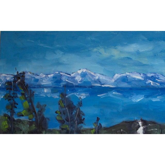 Diamond Peak Run Original Oil Painting Landscape For Sale - Image 4 of 12