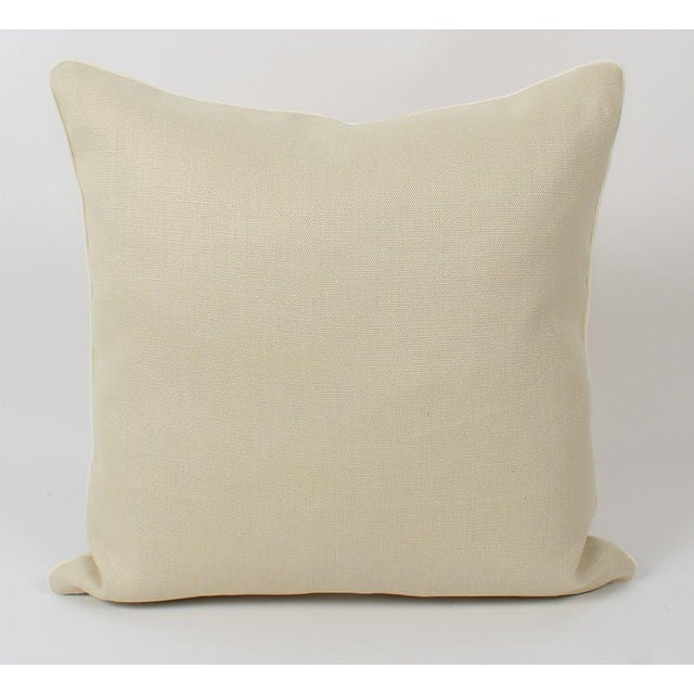 Chinoiserie Linen Emperor Pillows 22x22 Square, a Pair For Sale In Atlanta - Image 6 of 7