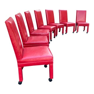 Kravet Parsons Chairs - Set of 7 For Sale