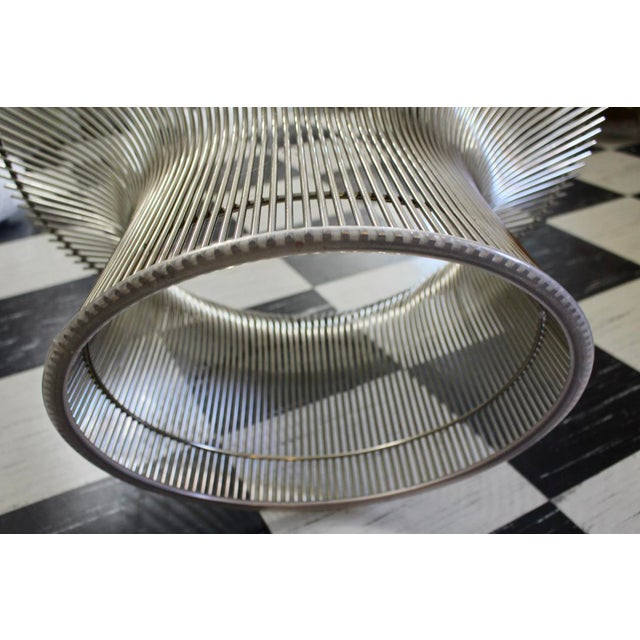 Mid-Century Modern Warren Platner for Knoll Chrome & Beveled Glass Top Coffee Table For Sale - Image 3 of 6