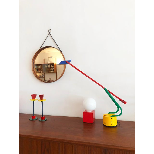 Post Modern 1980s Memphis Halogen Table Lamp For Sale In New York - Image 6 of 7