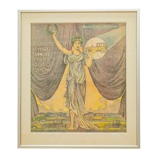 Art Deco Print| San Francisco Examiner Pacific Auto Show 1919 For Sale