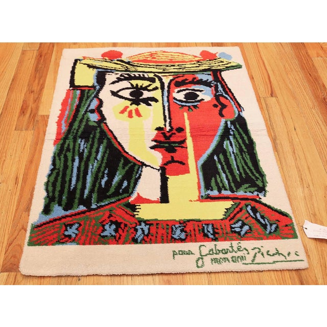 Vintage Pablo Picasso rug, origin: Holland. Here is a compelling and dynamic vintage carpet – an art rug that was produced...