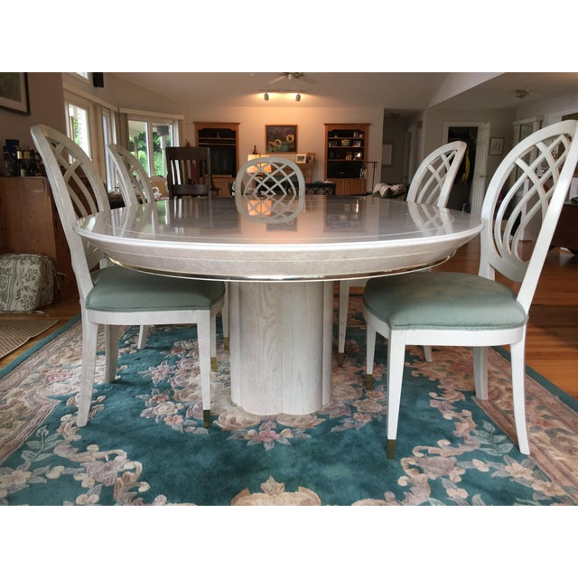 Contemporary Henredon Dining Table & Chairs For Sale - Image 3 of 9