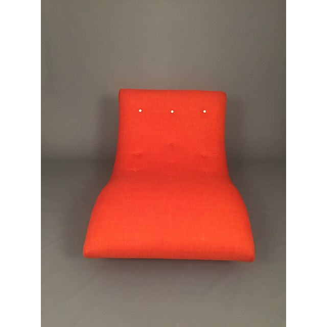 Adrian Pearsall Style Orange Wave Lounge Chaise - Image 4 of 11