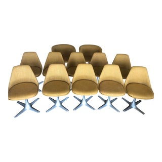 Mid-Century Modern Burke Inc. Swivel Chairs - Set of 12 For Sale