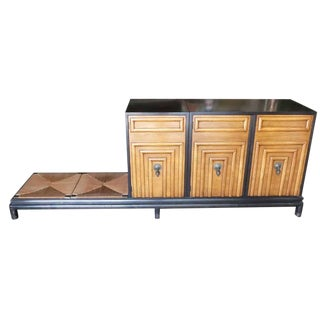 Renzo Rutili Storage Cabinet with Bench for Johnson Furniture For Sale