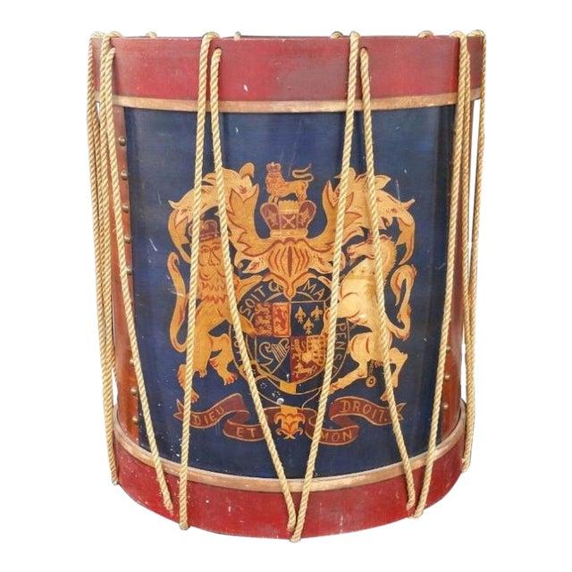 1950s Vintage Polychromed Drum Form Table For Sale