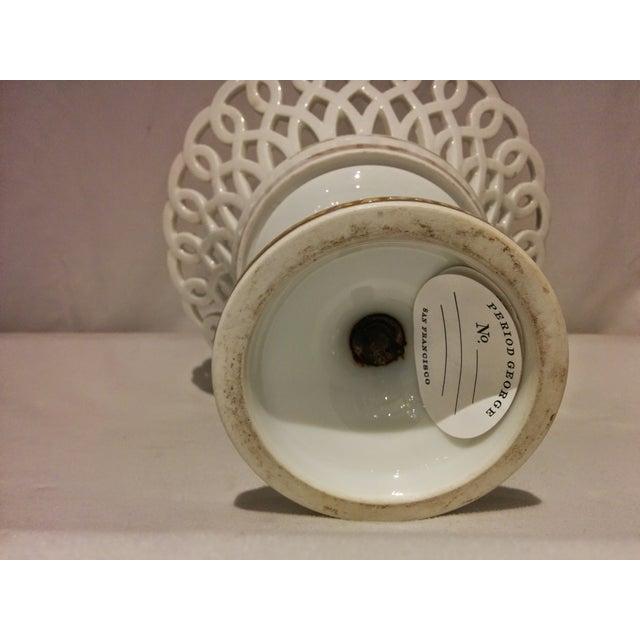 Antique Parisian White Porcelain Fruit Basket - Image 9 of 9