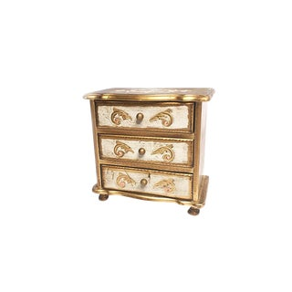 Florentine Style Footed Jewelry Box For Sale