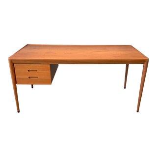 Erik Riisager Hansen Designed Teak Writing Desk for Haslev Mobelsnedkeri For Sale