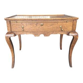 English Oak Tea Table or Dry Bar For Sale