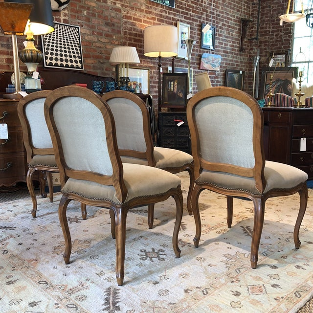 Louis XV Style Walnut Dining Chairs - Set of 4 - Image 8 of 9