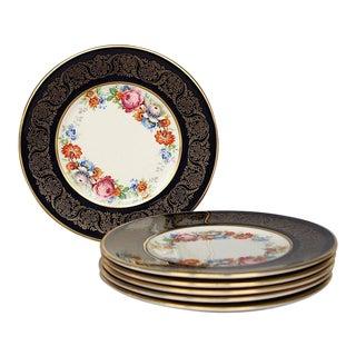 Vintage Fondeville Ambassador English China Dessert Plates - Set of 6 For Sale