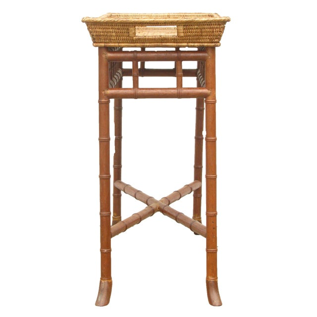 Wisteria Bamboo/Basket Console - Image 4 of 6