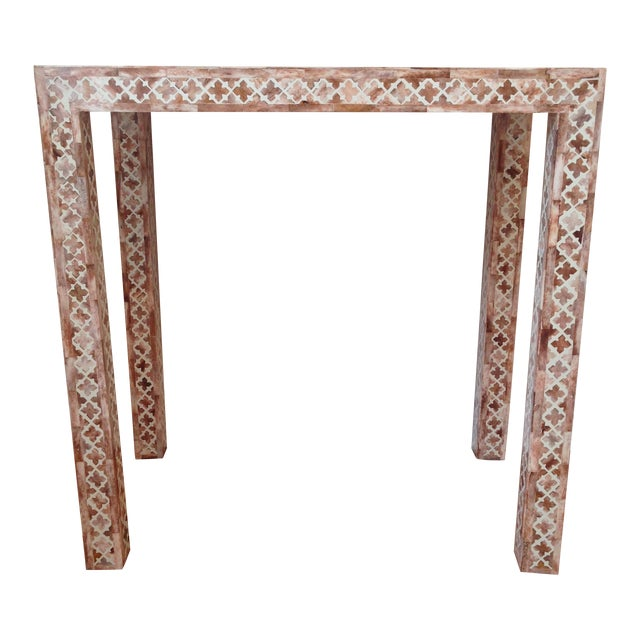 HD Buttercup Shell Inlay Trellis Console - Image 1 of 11