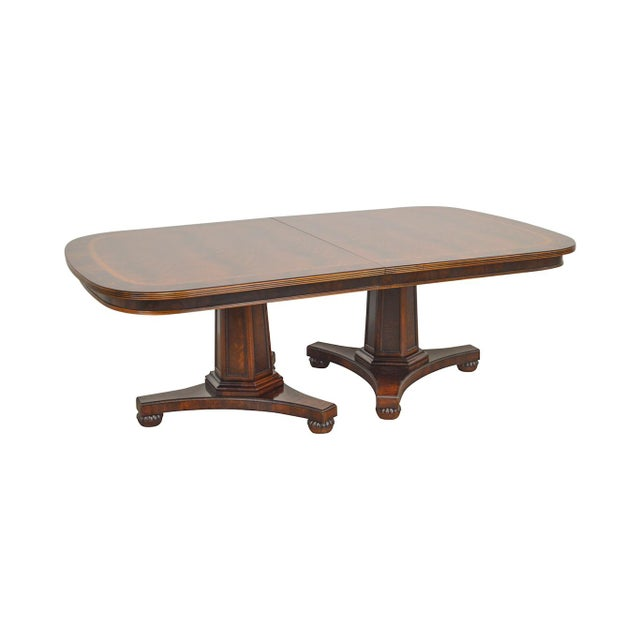Henredon Historic Natchez Collection Flame Mahogany Regency Dining Table For Sale - Image 12 of 12