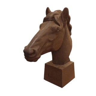 Reproduction Cast Iron Horse Head For Sale