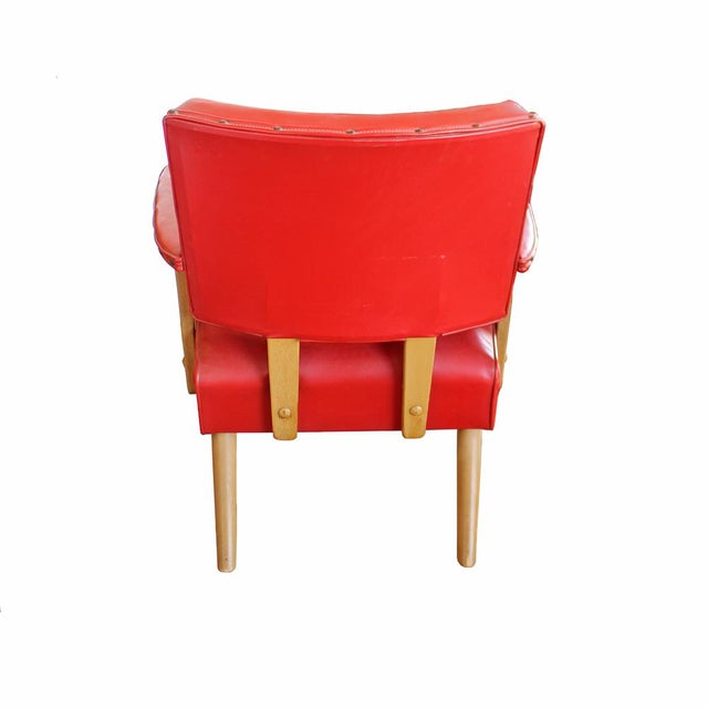 Mid-Century Modern Red Arm Chair - Image 4 of 4