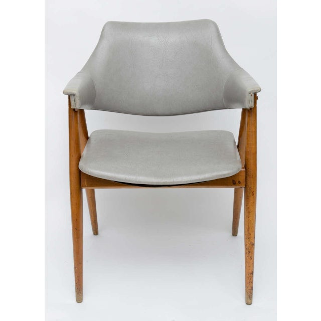 Wooden MCM Chair Attributed to Paul McCobb 1950 For Sale - Image 4 of 10