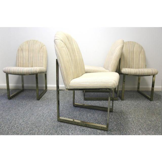 Brass Thayer Coggin Mid-Century Dining Chairs - Set of 4 For Sale - Image 7 of 13