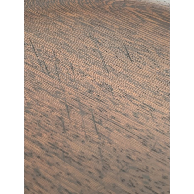 1960s Large Danish Modern 3 Foot Wood Tray From Skjøde Skjern For Sale - Image 12 of 12