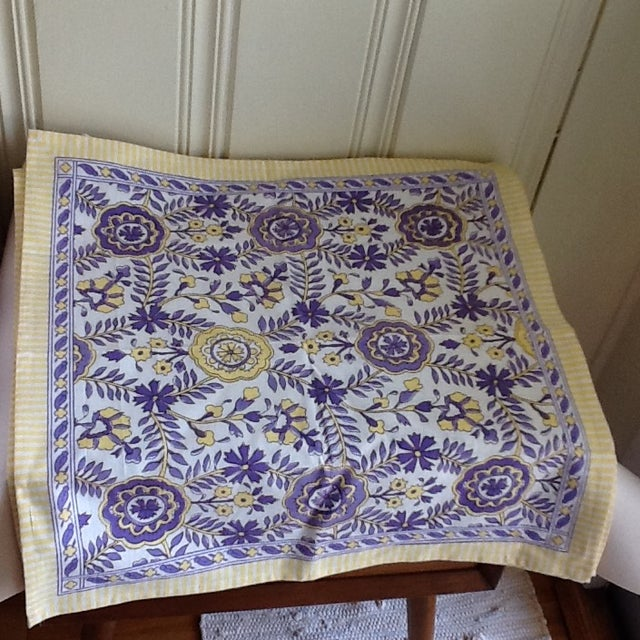 Tuscany Style Tablecloth & Napkins - Set of 8 For Sale In Los Angeles - Image 6 of 10