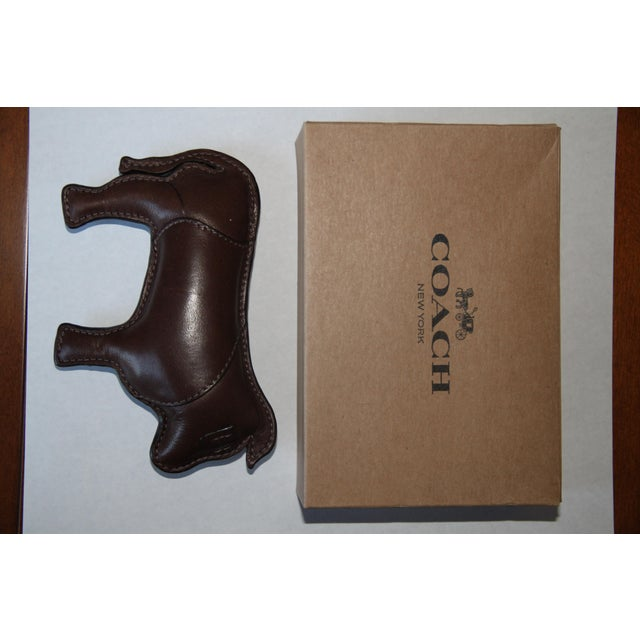 Coach Signature Leather-Embossed Paperweight (Year of the Ox) For Sale In New York - Image 6 of 7