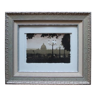 Impressionist Water-Color Landscape Painting of Washington DC by Rieei For Sale