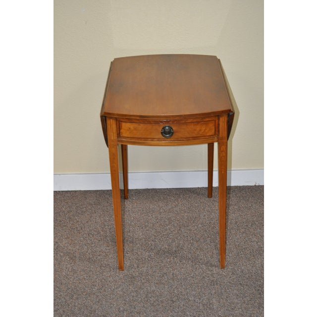 American Drop Leaf Side Table With Drawer C.1915 - Image 2 of 9