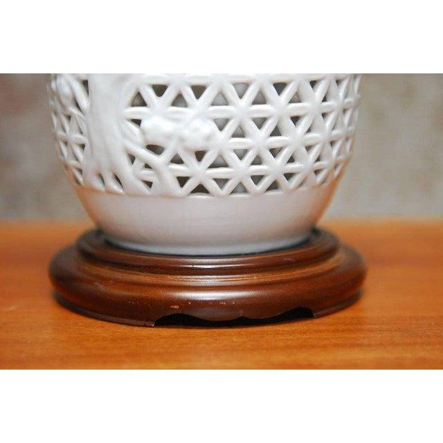 Diminutive japanese blanc de chine porcelain table lamp for Table de chine