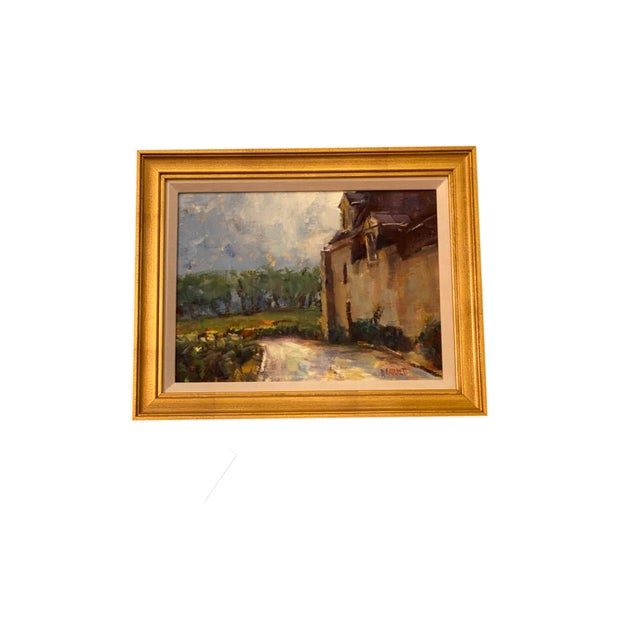 French Painting in Gilt Frame For Sale - Image 4 of 5