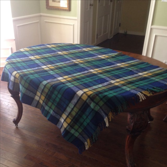 Plaid Wool Tailgate/Picnic Blanket - Image 4 of 11