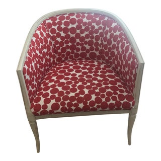 Polka Dot Barrel Accent Chair For Sale