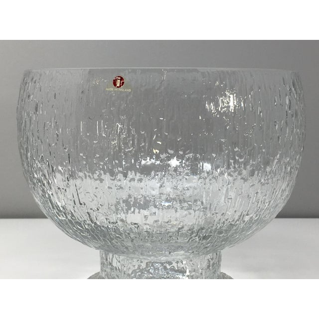 Mid 20th Century Timo Sarpaneva Kekkerit Footed Glass Bowl for Iittala Finland For Sale - Image 9 of 12