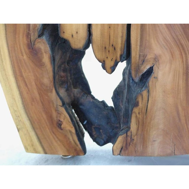Guarapa Wood Console Table by Brazilian Contemporary Artist Valeria Totti For Sale - Image 10 of 11