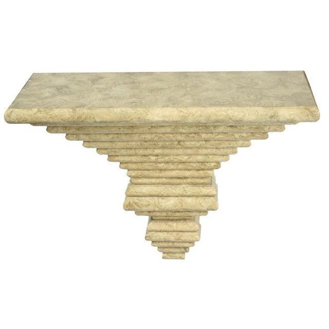 Italian Italian Ziggurat Laminated Wall Console For Sale - Image 3 of 9