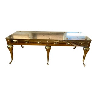 Antique Brass Coffee Table For Sale