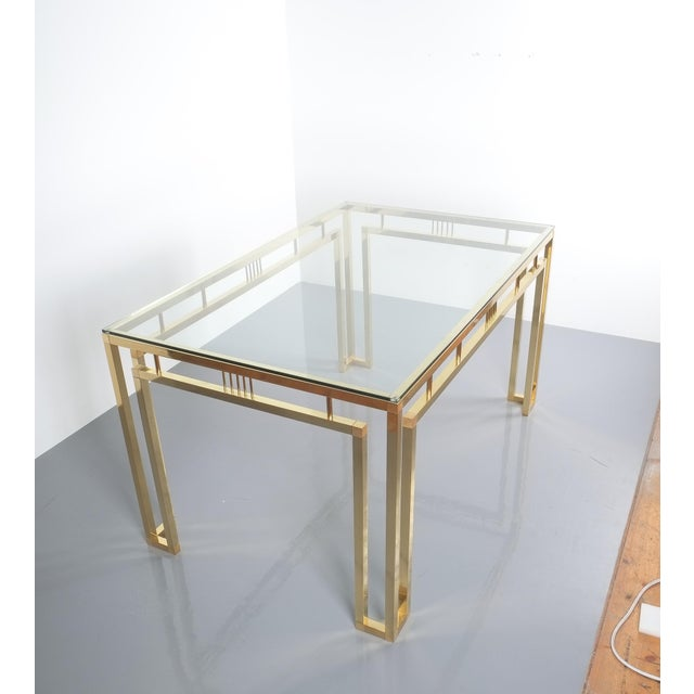 Metal Romeo Rega Breakfast or Dining Table Brass Glass, Italy 1960 For Sale - Image 7 of 12