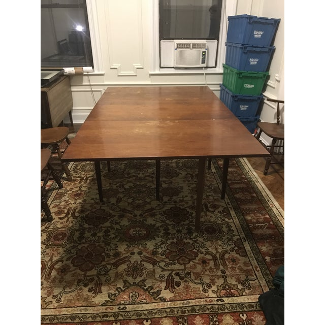 Wooden Farmhouse Table with Leaves - Image 2 of 5