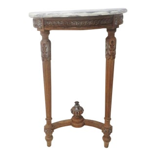 French Style Marbletop Console
