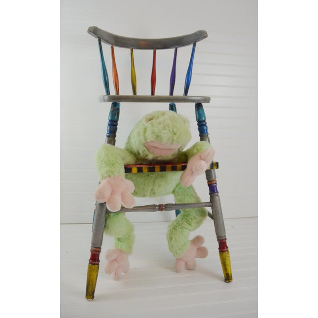 Vintage Hand Painted Highchair - Image 7 of 11