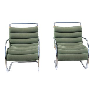Vintage Mies Van Der Rohe Style Chairs by Gordon International - a Pair For Sale