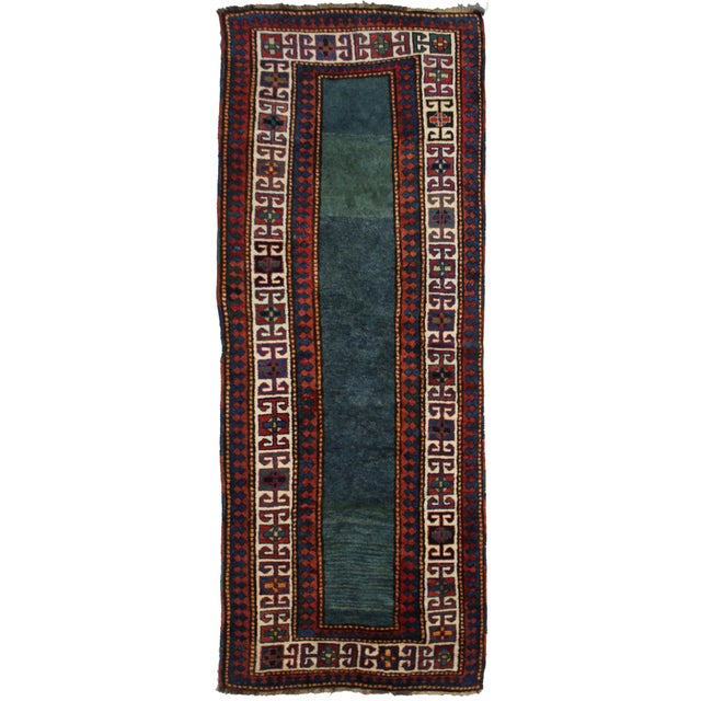"""Hand Knotted Antique Talesh Kazak Rug - 3'9"""" X 9'7"""" For Sale - Image 4 of 4"""