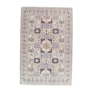 "Pasargad N Y Persian Nain 6-Lines Hand-Knotted Lamb's Wool & Silk Rug - 6'9"" X 10'2"" For Sale"