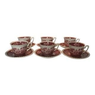 Vintage Villeroy & Boch Tea Cups - Service for 6 For Sale