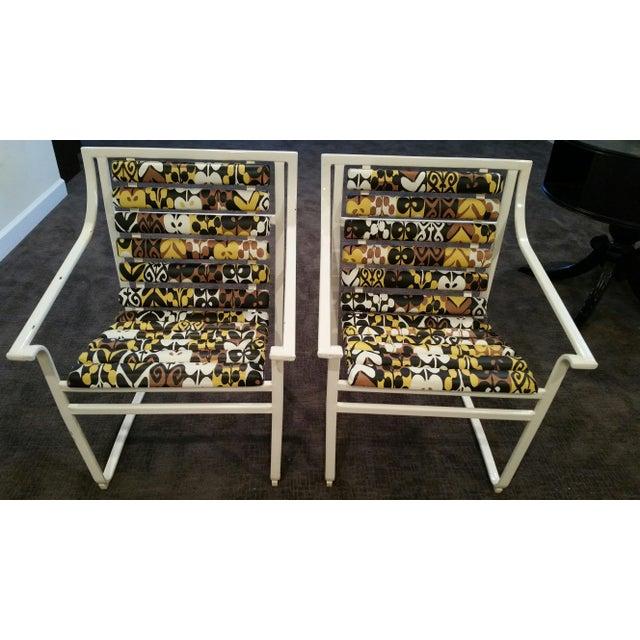 Samsonite Tubular Steel Patio Chairs - a Pair - Image 2 of 9
