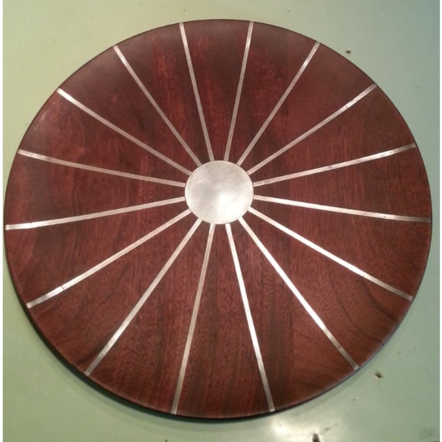 Rare early 60's studio piece a collaboration of Paul Evans and Phillip Lloyd Powell of New Hope Pa. Walnut with inlaid...